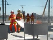 各種消火器使用消火訓練