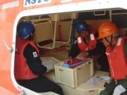 ダビット式救命艇の備品説明