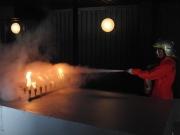 機関室内想定消火訓練
